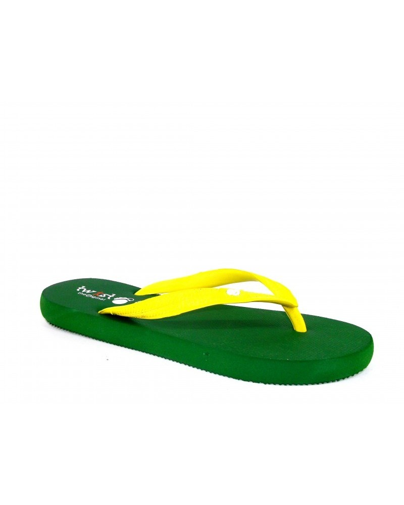 TWIST FLIP-FLOP GREEN-YELLOW