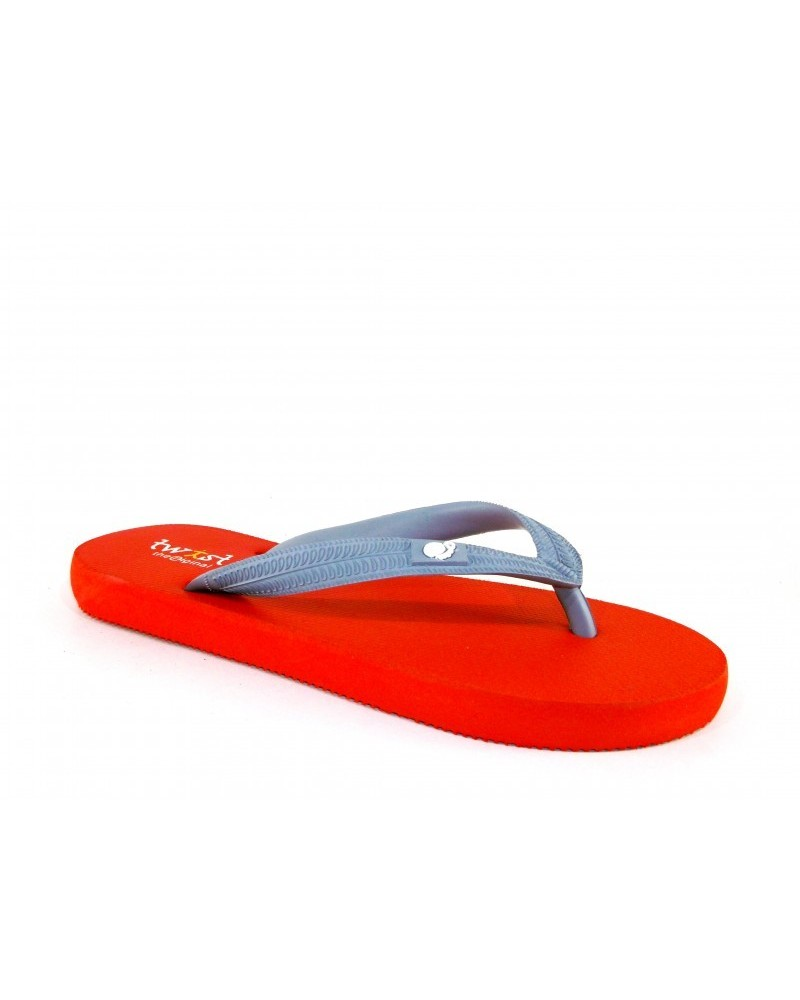 TWIST FLIP-FLOP M.RED-GREY