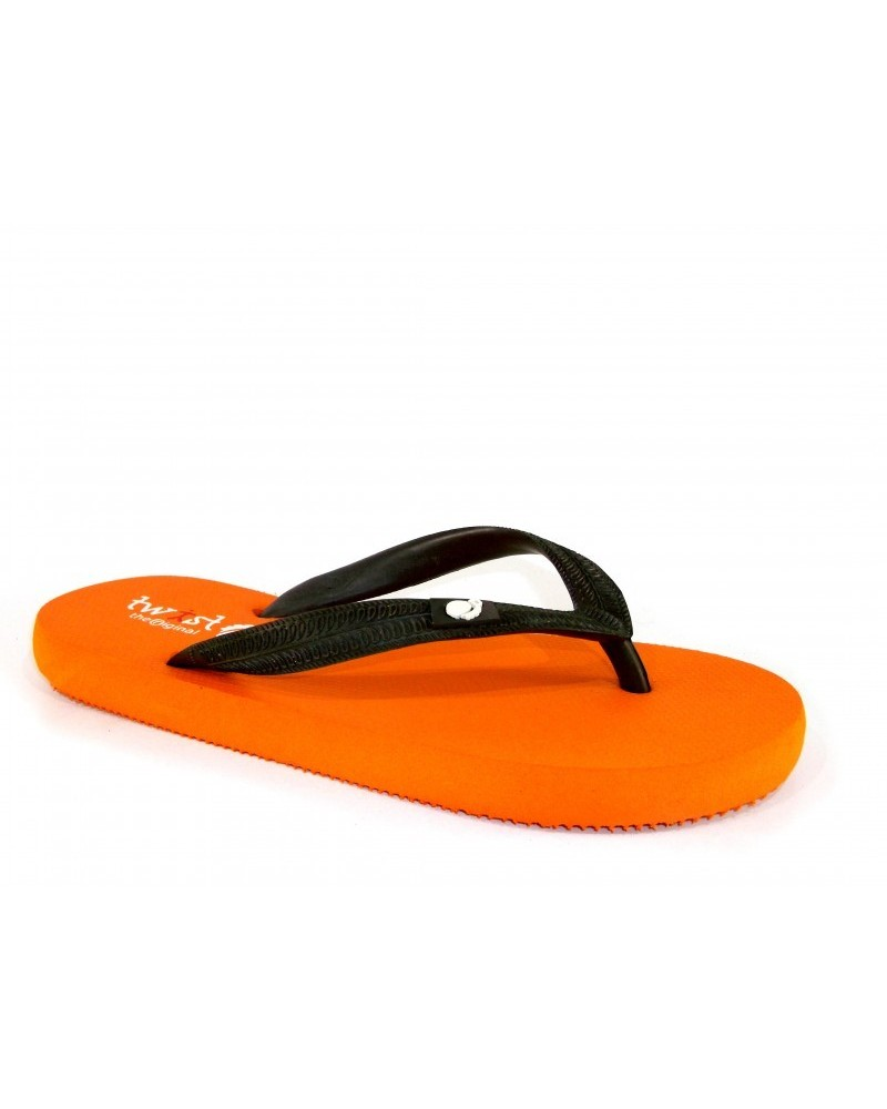 TWIST FLIP-FLOP ORANGE-BROWN
