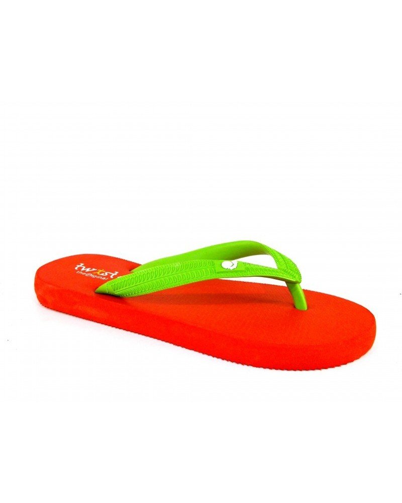 TWIST FLIP-FLOP RED-L. GREEN
