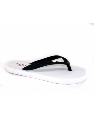 TWIST FLIP-FLOP WHITE-BLACK