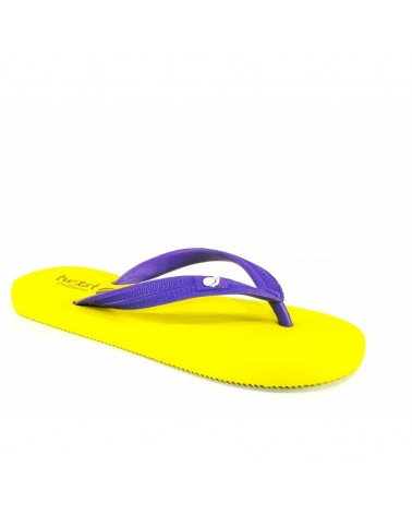 TWIST FLIP-FLOP YELLOW-PURPLE