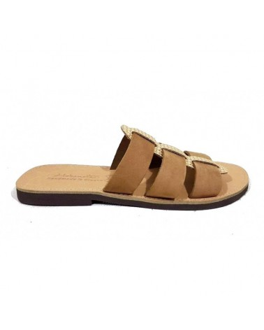 GREEK LEATHER SANDALS  06 BEIG